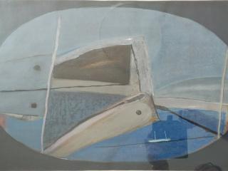 1987 - Öl auf Papier - Titel: Santorin - 56 x 36 cm